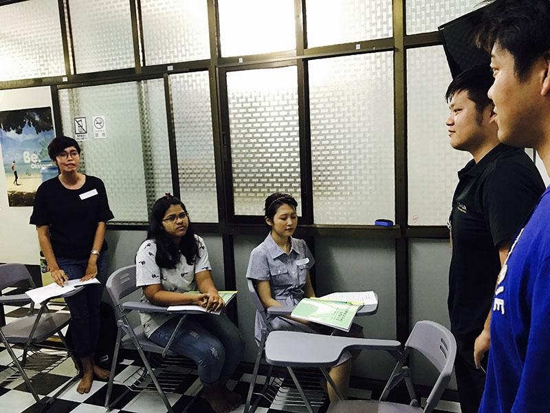 ミャンマーの日本語学校の授業に参加