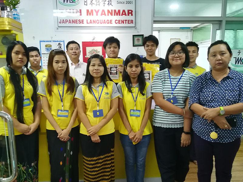 ミャンマーの日本語学校を訪問
