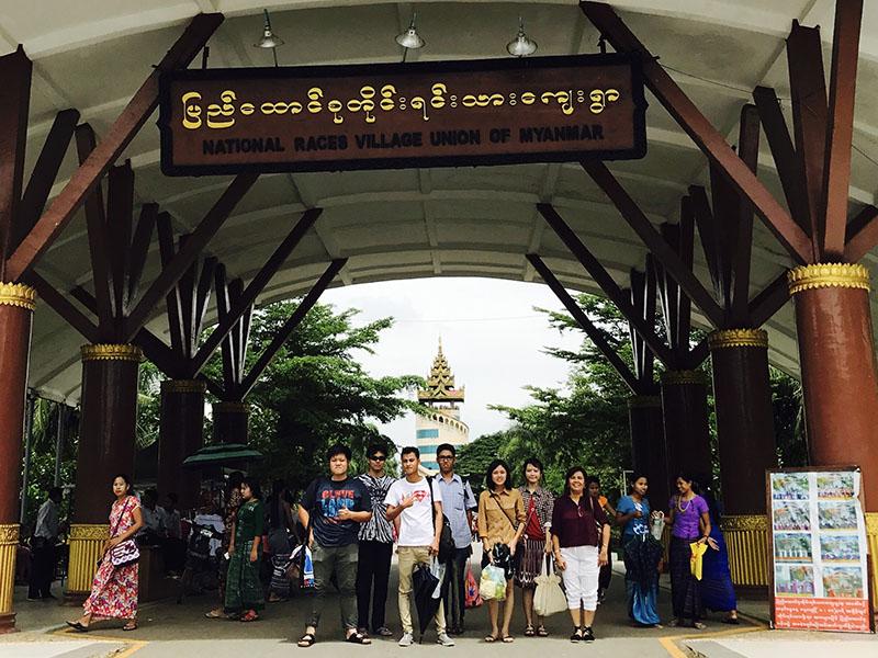 ミャンマー民族村 見学