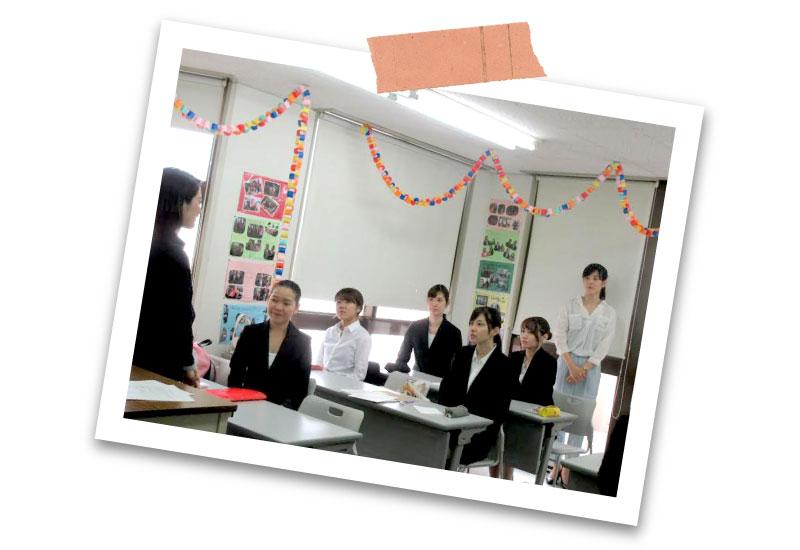 元CAの先生の授業