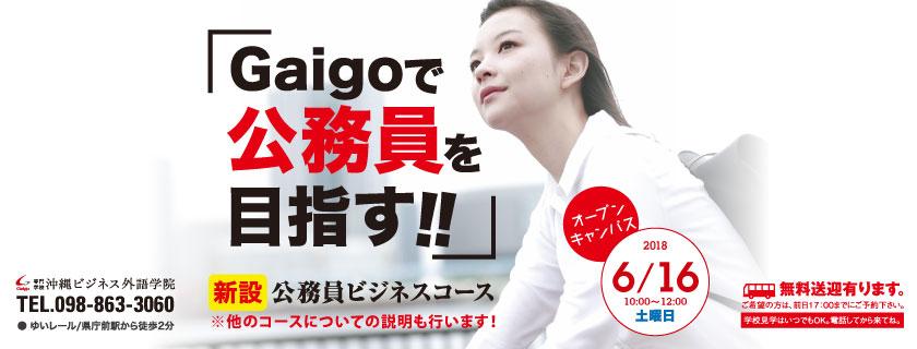 6/16 Gaigoで公務員を目指す! 公務員コース説明会